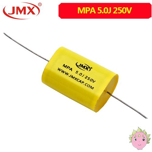 MPA轴向电容_CBB20聚丙烯电容_5.0UF250V(扁圆形)